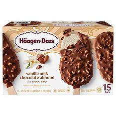 Haagen-Dazs® Vanilla Milk Chocolate Almond Ice Cream Bars - 15 ct.