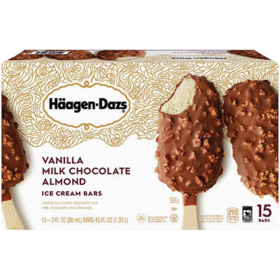 Haagen-Dazs® Vanilla Milk Chocolate Almond Ice Cream Bars - 15 ct.