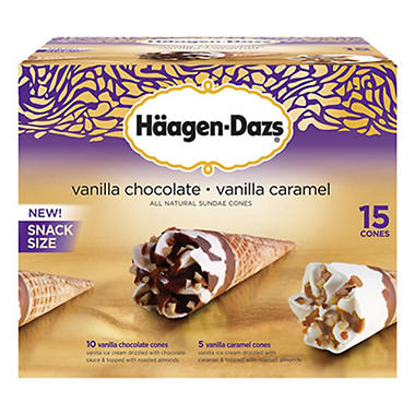 Haagen-Dazs� All Natural Sundae Cones - 15 ct.