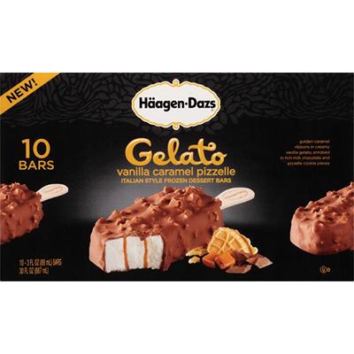 Haagen-Dazs Vanilla Caramel Pizzelle Gelato Bars (10 ct.)