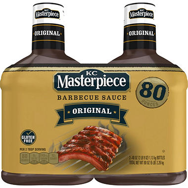 KC Masterpiece Original BBQ Sauce (40 oz., 2 ct.)