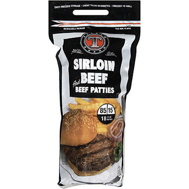 Silver T Brand™ Sirloin Beef Patties - 18ct