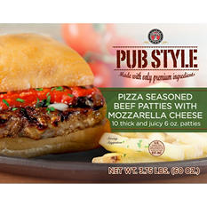 Silver T Pizza Seasoned Beef Patty (6 oz. patties, 10 ct.)