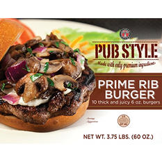 Silver T Seasoned Prime Rib Burger (6 oz., 10 ct.)