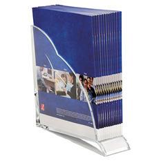 Swingline Stratus Acrylic Magazine Rack, 3 1/2 x 10 1/4 x 10 1/2, Clear