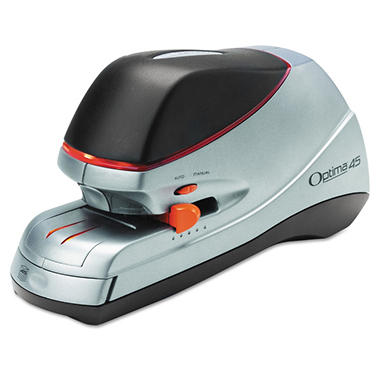 Swingline - Optima 45 Electric Stapler, 45-Sheet Capacity -  Silver
