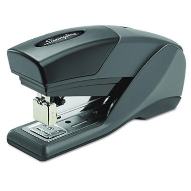 Swingline - Light Touch Compact Reduced Effort Stapler, Half Strip, 20-Sheet Capacity -  Black
