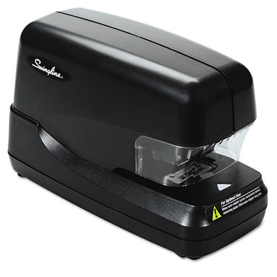 Swingline Flat Clinch Electric Stapler with Jam Release, 70-Sheet Capacity, Black