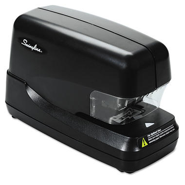 Swingline - High-Capacity Flat Clinch Electric Stapler with Jam Release, 70-Sheet Cap -  Black