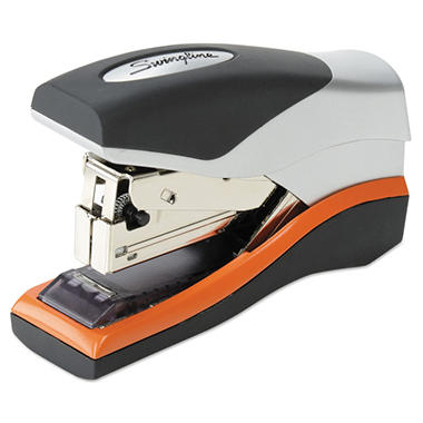 Swingline - Optima 40 Compact Stapler, Half Strip, 40-Sheet Capacity -  Black/Silver/Orange