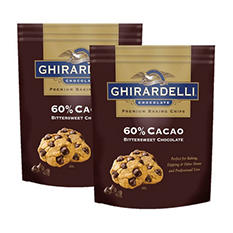 Ghirardelli 60% Cacao Bittersweet Chocolate Baking Chips (30 oz. ea., 2 ct.)