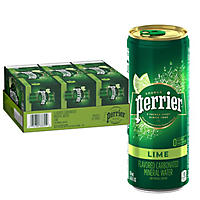 Perrier Sparkling Natural Mineral Water, Lime (8.45 oz. bottles, 30 pk.)