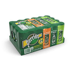 Perrier Sparkling Natural Mineral Water, Variety Pack (250 ml, 24 pk.)