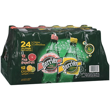 Perrier Sparkling Natural Mineral Water Citrus Collection - 16.9 oz. - 24 pk.