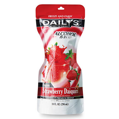 Daily's Strawberry Daiquiri Ready-To-Drink Frozen Pouch - 10 oz. - 6 ct. box