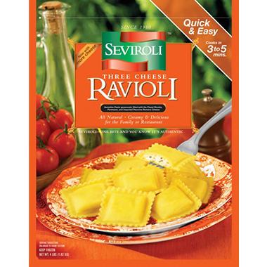 Seviroli Three Cheese Ravioli - Square