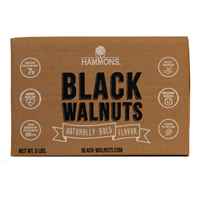 Hammons American Fancy Large Black Walnuts - 5 lb.