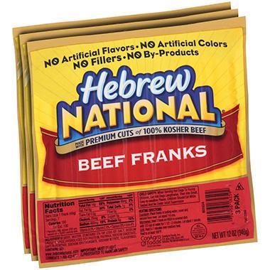 Hebrew National Hot Dogs Packs