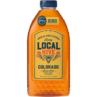 L.R. Rice Raw & Unfiltered Local Colorado Honey - 40 oz.