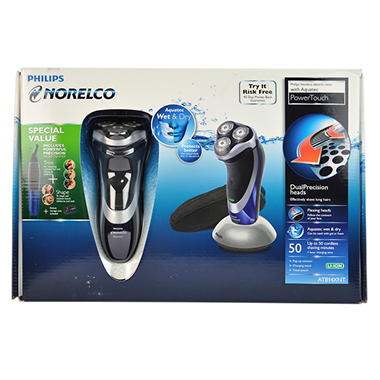 Philips Norelco PowerTouch - Wet and Dry Electric Razor with Aquatec  - Model AT814XNT