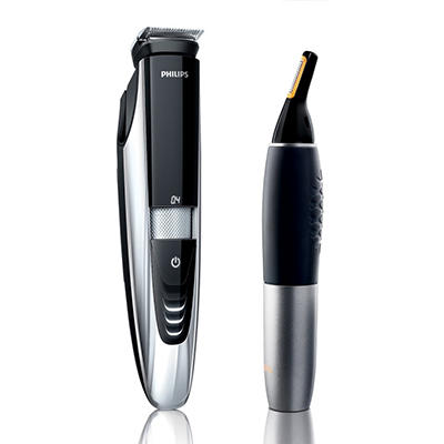 Philips Norelco Beard Trimmer with Nose Trimmer and Case, Model: 9000 Series