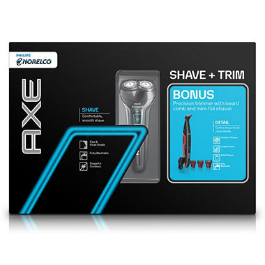 Philips Norelco Axe 2 Head Razor with Bonus Hair Detailer