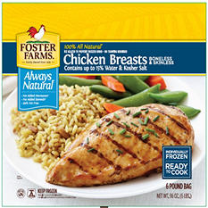 Foster Farms Boneless Skinless Chicken Breasts (6 lb.)