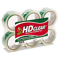 "Duck Brand Heavy-Duty Packaging Tape, 1.88"" x 55 yds., Clear, Select Quantity"