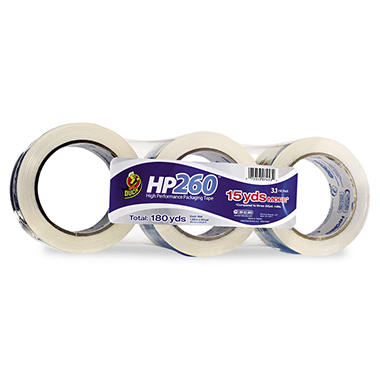 Duck Brand HP260 Packaging Tape, 1.88