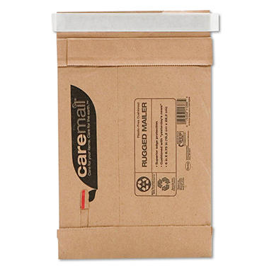 Caremail - Rugged Padded Mailer, Side Seam, 6 x 8 3/4, Light Brown, 25 per Pack