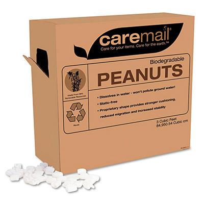 Caremail - Biodegradable Peanuts, 3 Cubic Feet