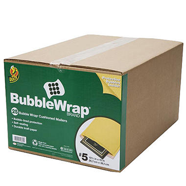 Duck Bubble Wrap® Cushioned Mailers #5 - 25 pk.