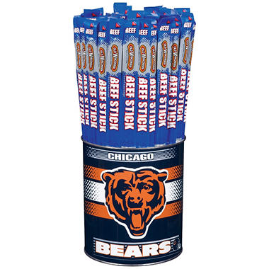 Old Wisconsin Beef Sticks NFL Sport Tin - Chicago Bears