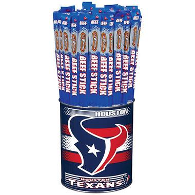 Old Wisconsin Beef Sticks NFL Sport Tin - Houston Texans