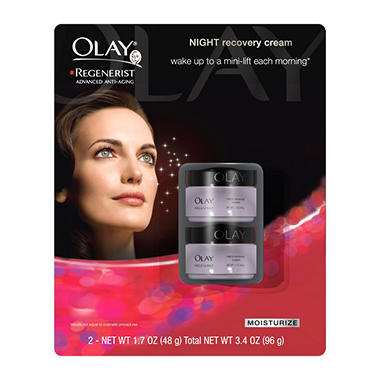 Olay Regenerist Night Recovery Cream - 1.7 oz. - 2 pk.