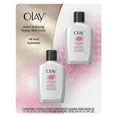 Olay Hydrating Lotion or Complete Moisturizer, (6 oz. bottles - 2 ct.)