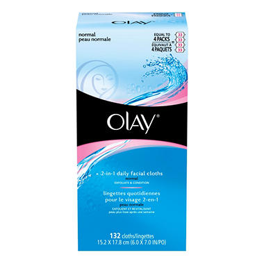Olay 2-in-1 Daily Facial Cloths - 4/33 ct.