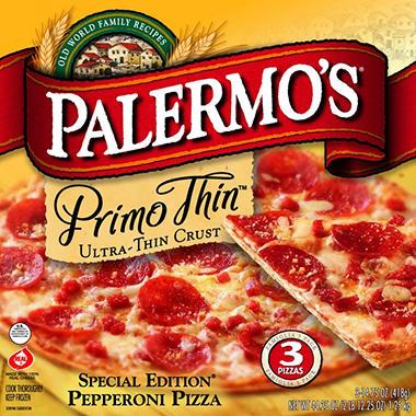 Palermo's Primo Thin Pepperoni  - 3 pk