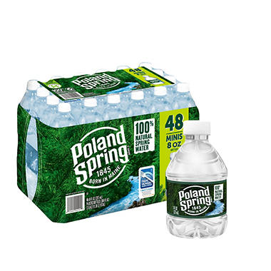 Poland Spring 100% Natural Spring Water (8 oz. bottles, 48 ct.)