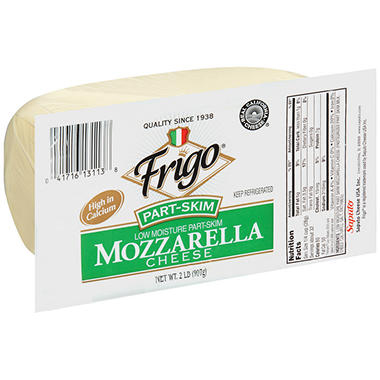 Frigo Part Skim Mozzarella Cheese - 2 lb.