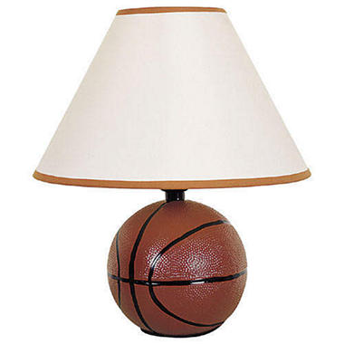 Accent Ceramic Basketball Lamp