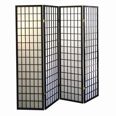 Japanese-Inspired 4 Panel Room Divider