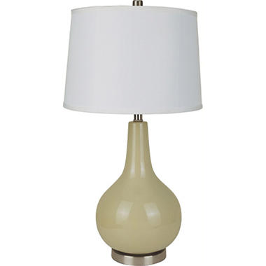 Genie Bottle Ceramic Table Lamp - Basic Beige