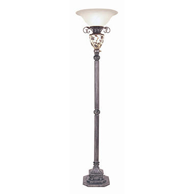 victorian style antique floor lamp with nightlight sam 39 s club. Black Bedroom Furniture Sets. Home Design Ideas