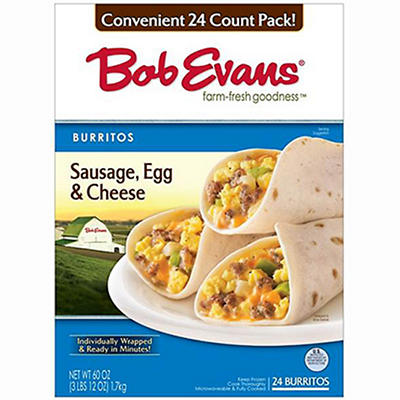 Bob Evans Sausage Egg & Cheese Burritos (24 ct.)