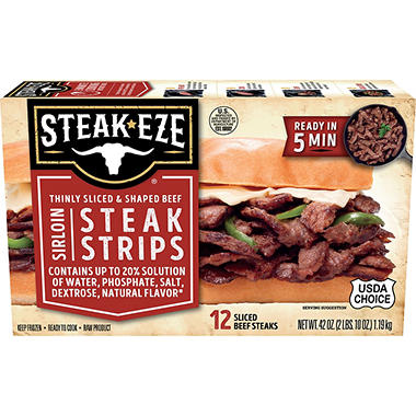Steak-EZE� Thin Sliced Sirloin Beef Steak - 42oz
