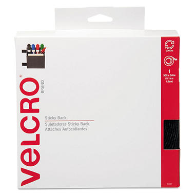 Velcro Brand Sticky Back Hook and Loop Tape Roll