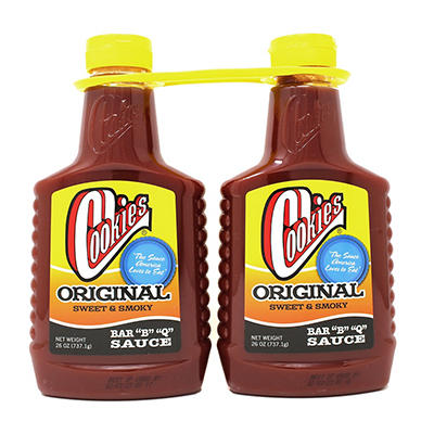 Cookies® Original BBQ Sauce - 2/26 oz. bottles