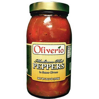 Oliverio Medium Hot Peppers in Sauce - 25.5oz