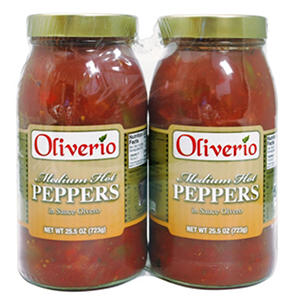Oliverio Medium Hot Peppers in Sauce (25.5 oz. jar, 2 pk.)